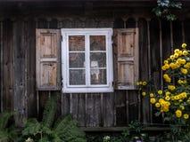 Nieociosane okno żaluzje Obrazy Stock
