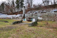 Nieociosane szklarni ruiny zdjęcia stock