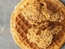Nieociosanej południowej amerykańskiej wygody kurczaka karmowy gofr Obrazy Royalty Free