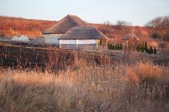 Nieociosani domy Fotografia Stock