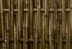 Nieociosany żółty bambusa ogrodzenie zdjęcie royalty free