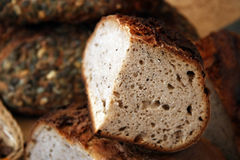 Nieociosany żyto chleb obrazy royalty free