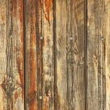 Nieociosany Brown Wietrzejący Drewnianego deska panelu Horyzontalny tło Obrazy Stock