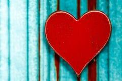 Nieociosany Czerwony serce obrazy stock