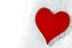 Nieociosany Czerwony serce obraz royalty free