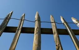 Nieociosany drewniany ogrodzenie Zdjęcia Stock