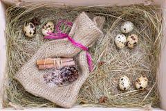 Nieociosany Easter pudełko Fotografia Stock