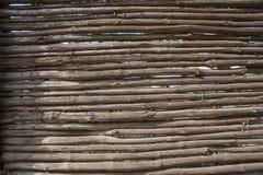 Nieociosany fense Drewniany tło Fotografia Stock