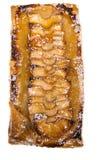 Nieociosany jabłczany tarta z morelowym glazerunkiem Fotografia Stock