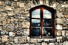 nieociosany okno Zdjęcia Royalty Free