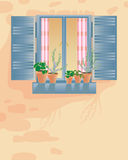 nieociosany okno Zdjęcia Stock