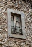 Nieociosany okno outdoors Obrazy Stock