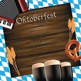Nieociosany Oktoberfest drewna powierzchni tło Ilustracja Wektor