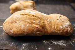Nieociosany organicznie bochenek chleb Obraz Royalty Free