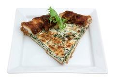 Nieociosany Quiche z serem i warzywami obrazy stock