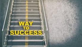 Nieociosany Schodowy sposób do sukcesu Zdjęcie Stock