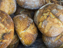 Nieociosany sourdough chleb Obrazy Stock