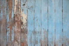 Nieociosany Stary błękitny drewniany tło Drewno deski obraz royalty free