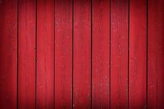 Nieociosany stary czerwony drewniany deski tło z winietą Zdjęcie Royalty Free