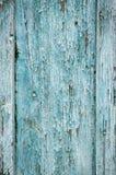 Nieociosany Stary Drewniany deski t?o B??kitny i zielony rocznik tekstury t?o B??kitny grunge drewna ?ciany wz?r B??kitny drewnia obraz stock