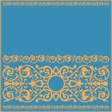 Nieociosany tło z deseniowym ornamentem Zdjęcia Stock