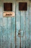 Nieociosany więzienia drzwi Z barami obraz royalty free