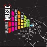 Nieograniczony muzyki Lać się Obraz Royalty Free