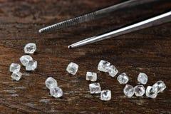 Nieoszlifowani diamenty 05 Zdjęcia Royalty Free