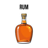 Nieotwarta, unlabeled pełna whisky butelka, royalty ilustracja
