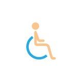Niepełnosprawna i nieważna stała ikona Zdjęcie Stock