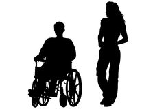 niepełnosprawna osoba ilustracja wektor