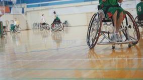 Niepełnosprawna sportowiec sztuk wózka inwalidzkiego koszykówka obraz royalty free