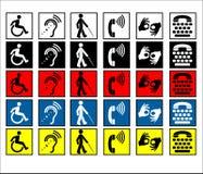 niepełnosprawni pomoc znaki Obraz Stock