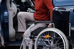 Niepełnosprawny kierowca zdjęcia stock