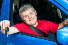 Niepełnosprawny kierowcy seansu klucz obraz royalty free