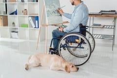Niepełnosprawny mężczyzna obraz zdjęcie royalty free