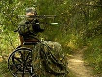 niepełnosprawny myśliwy Obrazy Royalty Free