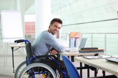 Niepełnosprawny pracownik obraz royalty free