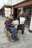 niepełnosprawny protestujący Obrazy Stock