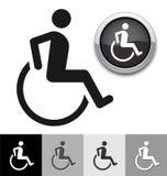 Niepełnosprawny symbol Obraz Stock
