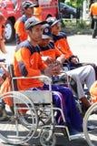 Niepełnosprawny wolontariusz fotografia royalty free