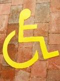 niepełnosprawny znak Obraz Royalty Free
