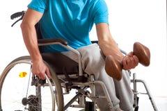 Niepełnosprawna atleta przy gym Obraz Royalty Free