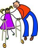 niepełnosprawna dziewczyna Obrazy Royalty Free