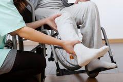 Niepełnosprawna rehabilitacja Fotografia Royalty Free