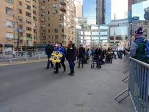 Niepełnosprawni kobiety ` s Marzec demonstranci, NYC, NY, usa Zdjęcia Royalty Free