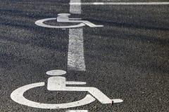 niepełnosprawni parkingu Fotografia Royalty Free
