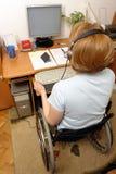 niepełnosprawni telemarketer Obrazy Stock