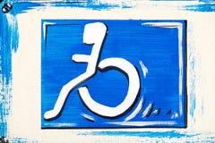 niepełnosprawni znak Obrazy Stock