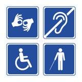 Niepełnosprawni znaki ilustracja wektor